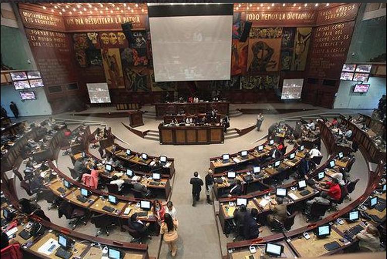 El Pleno de la Asamblea, el 24 de julio, día que se aprobó el Código Orgánico Monetario y Financiero.