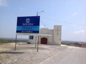 La iglesia de la Comuna Barbascal construida por el municipio, en donde la escasez de agua es una situación frecuente.