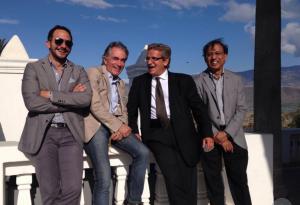 Los buenos tiempos: Andrade, Albericio, Rosakis y Ravichandran, los nombrados gestores para dar vida a Yachay.
