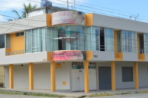 Las oficinas de ECSA en el Pangui, Zamora. Foto: la Historia