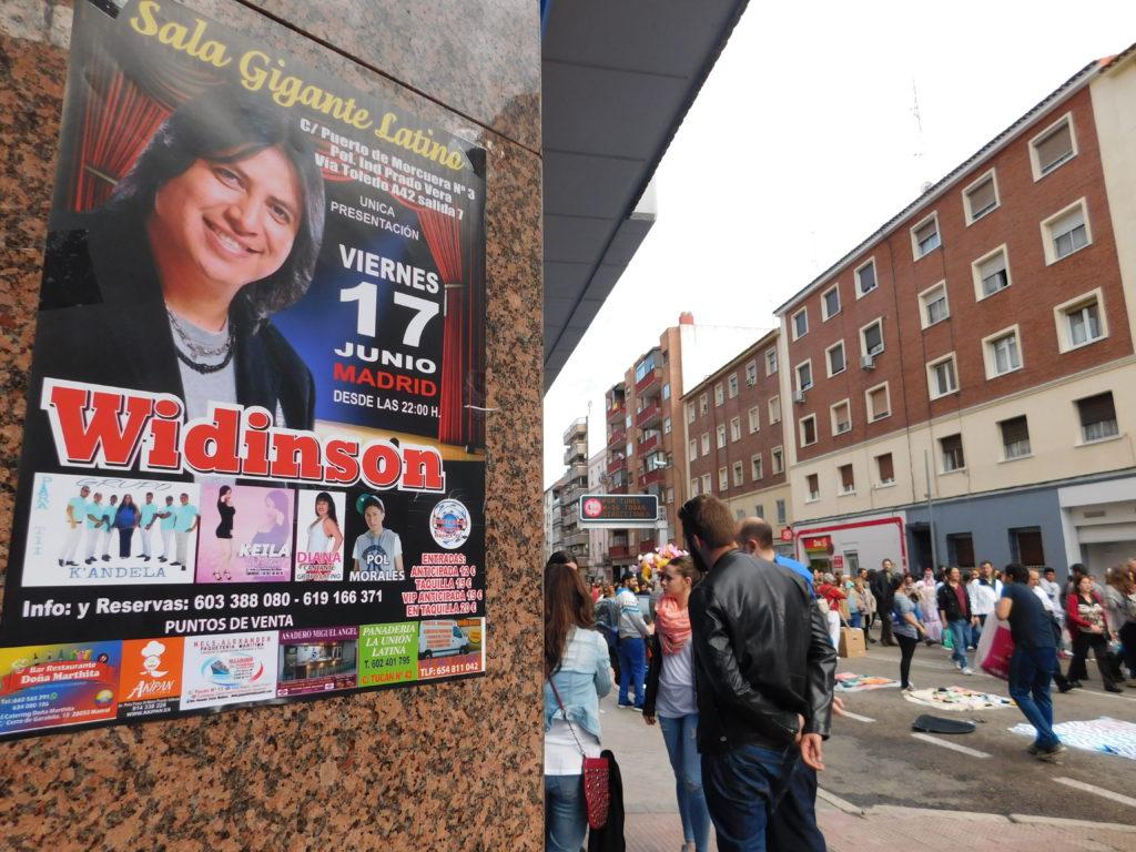 Calles de Carabanchel, el distrito madrileño con más ecuatorianos.
